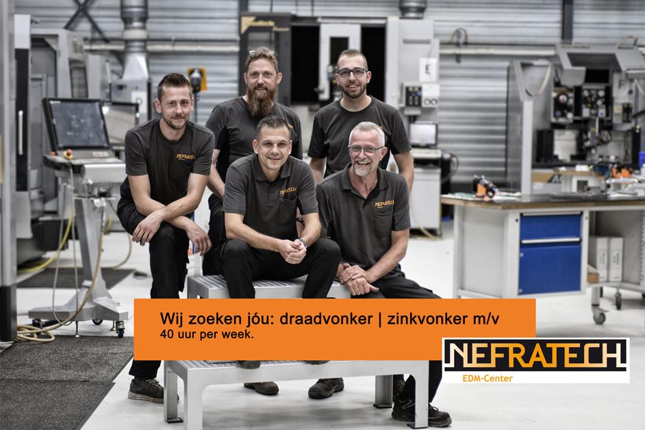 Vacature draadvonker zinkvonker Nefratech ECM-Center Weert